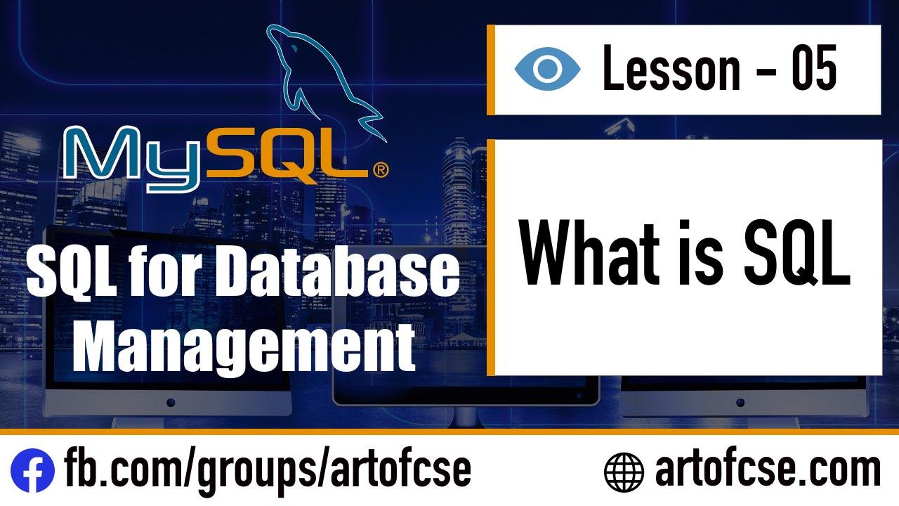 SQL কি এবং SQL দিয়ে কি কি করতে পারি