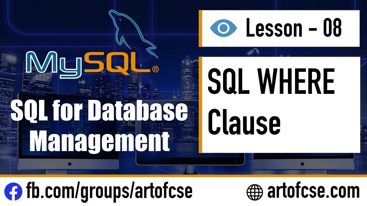 SQL WHERE দিয়ে Query তে condition দেয়া