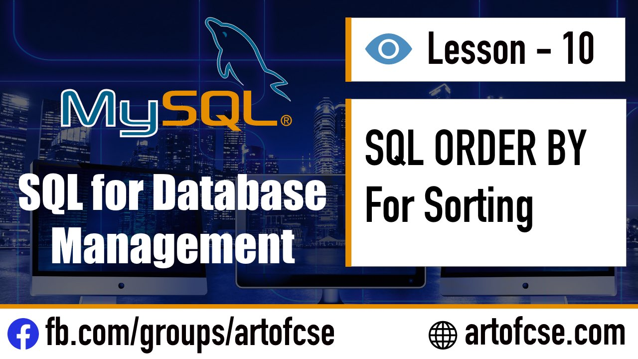 SQL ORDER BY for Sorting