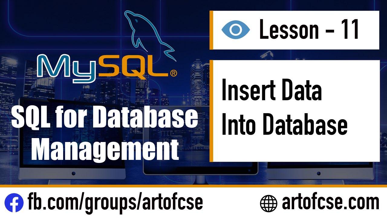 Insert Data Into the Database using SQL