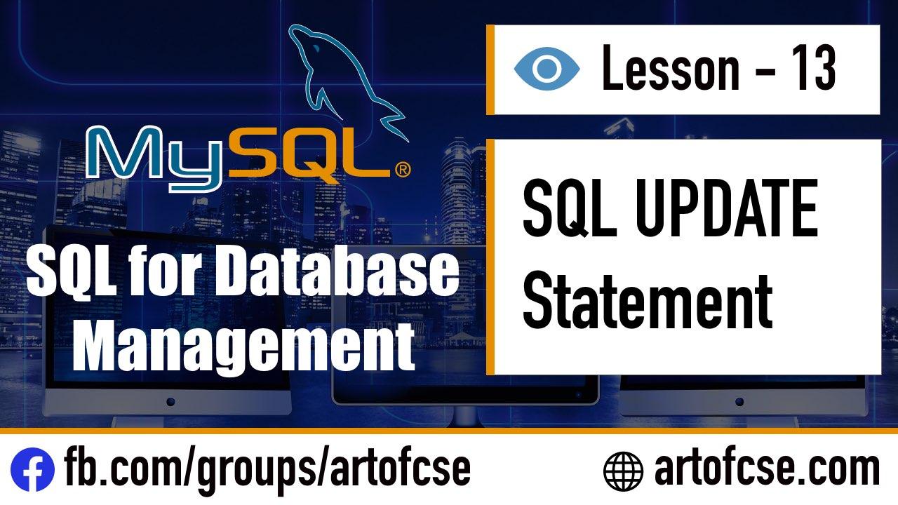 SQL UPDATE Statement for Updating Data