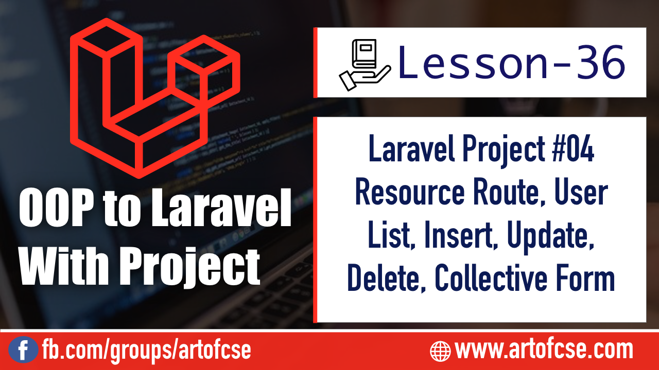 Laravel Project - Users table view, Insert, Update, Delete, Collective Form