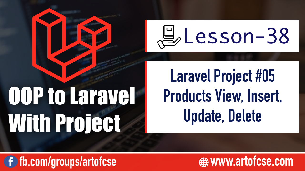 Laravel Project - Product View, Insert, Update, Delete