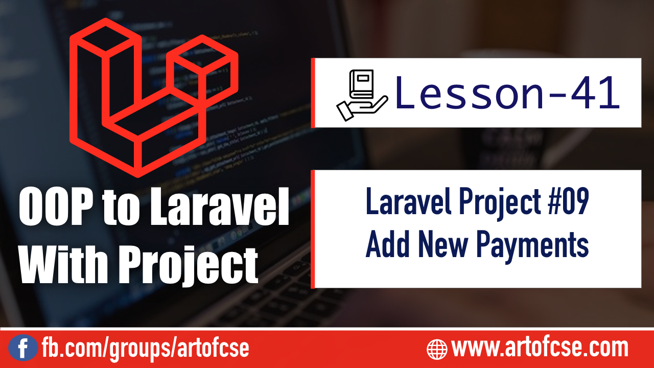 Laravel Project - Adding New Payment