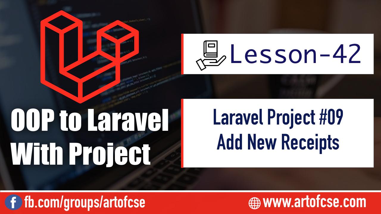 Laravel Project - Adding New Receipt